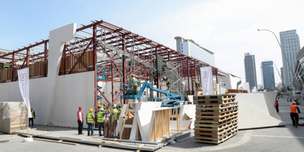 Build-up Begins for Internal and External Exhibition Stands for IDEX and NAVDEX 2021